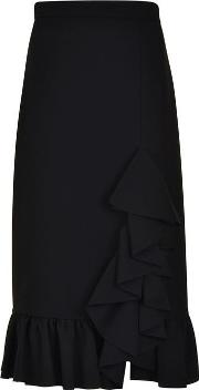 Crepe Fill Midi Skirt