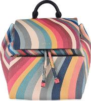 Small Striped Backpack