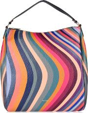 Swirl Zip Hobo Bag