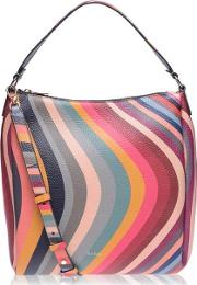 Swirl Zip Mini Hobo Bag