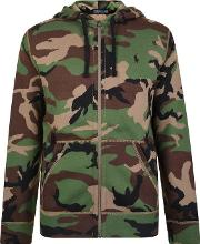 Camouflage Zip Hooded Sweatshirt