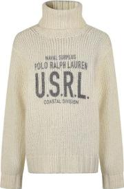 Graphic Turtle Neck Knitted Jumper