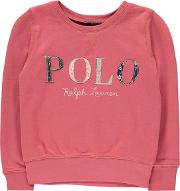 Junior Girls Polo Floral Sweater