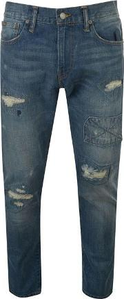 Polo Mens Distressed Sullivan Straight Jeans