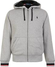 Sherpa Zip Hooded Sweatshirt