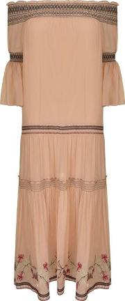 Cassidee Embroidered Silk Gown