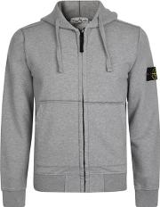 Badge Zip Hooded Sweatshirt