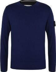 Junior Boys Badge Sleeve Knitted Jumper