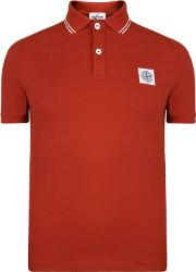 Tipped Badge Logo Polo Shirt