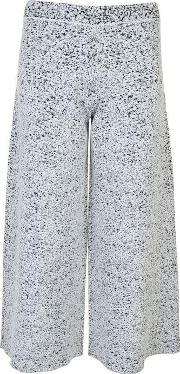 Henriet Cropped Jacquard Trousers