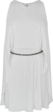 Diamante Frill Mini Dress