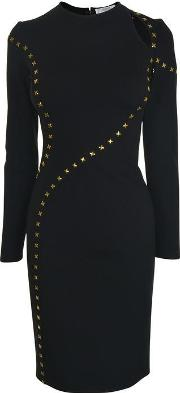 Long Sleeved Studded Dress