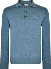 Vivienne Westwood Man Long Sleeved Knitted Polo Shirt