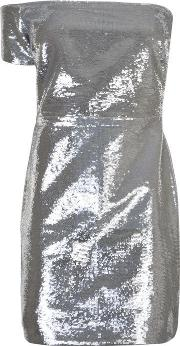 One Shoulder Sequin Mini Dress