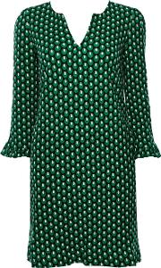 Jolie Moi Green Pattern Tunic Dress