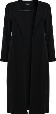 Black Pleated Duster Jacket