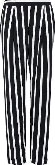 Black Striped Tailored Trousers