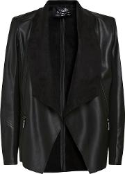 Black Waterfall Zip Jacket