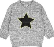 Boys Grey Star Knitted Jumper 18 Months 6 Years