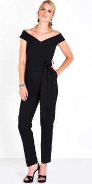 Closet Black Off The Shoulder Jumpsuit