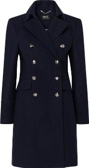 Faux Wool Military Coat