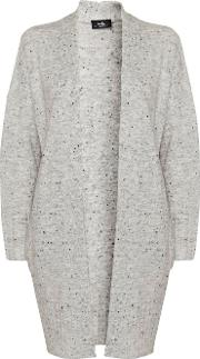 Grey Chunky Knitted Cardigan