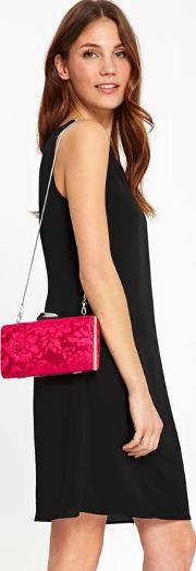 Hot Pink Lace Clutch Bag
