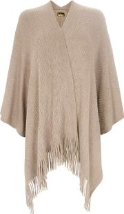 Mink Tassel Trim Ribbed Wrap