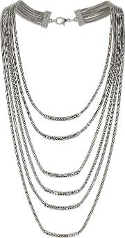 Multi Row Snake Chain Necklace