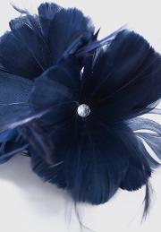 Navy Flower Clip Fascinator