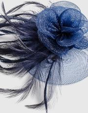 Navy Mini Clip Fascinator