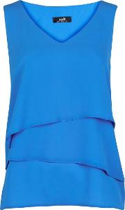 Petite Blue Tiered Camisole Top