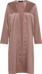 Petite Blush Jacquard Duster Jacket