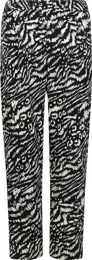 Petite Monochrome Animal Print Jogger