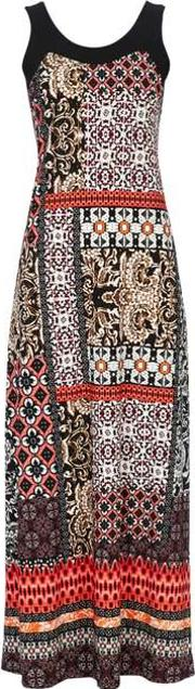 Petite Patchwork Paisley Print Maxi Dress