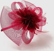 Purple Flower Fascinator