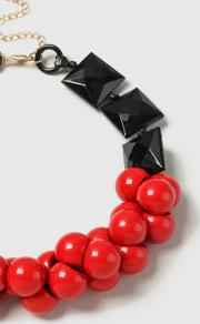 Red Large Ball Collar Necklace
