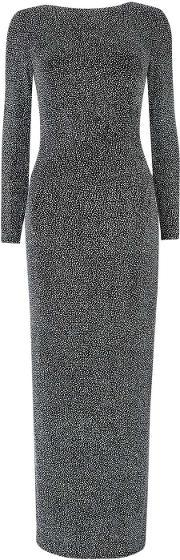 Silver Sparkle Long Sleeve Dress