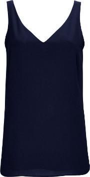 Tall Navy V Neck Camisole Top
