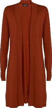 Tall Rust Longline Cardigan