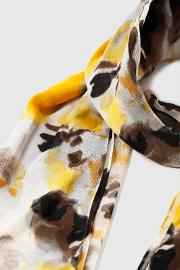 Yellow Marbled Scarf