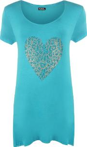 Alicia Leopard Heart Hanky Top