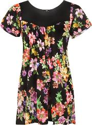 Audrina Floral Short Sleeve Top