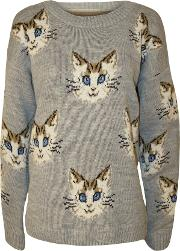 Autumn Cat Knitted Jumper