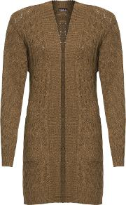 Belkis Cable Knit Open Cardigan