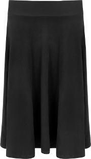 Clary Suede Look Flared Skirt
