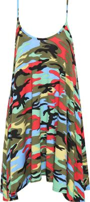 Elicia Camouflage Swing Dress