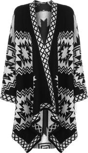 Esmay Knitted Aztec Poncho
