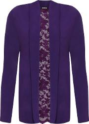 Floral Lace Back Long Sleeve Cardigan