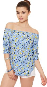 Floral Off Shoulder Gypsy Top,